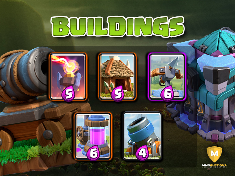clash royale buildings cards