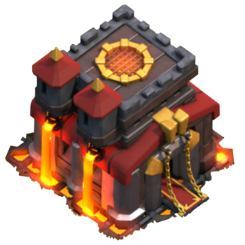 coc town hall 10 icon