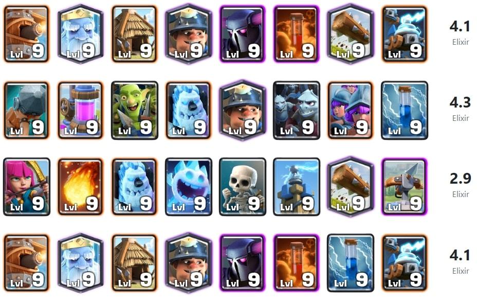 cr challenge decks
