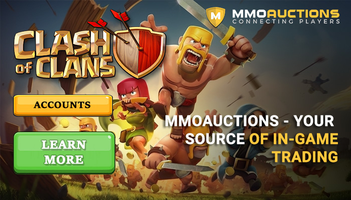 MMOAuctions is the best marketplace with Clash of Clans accounts