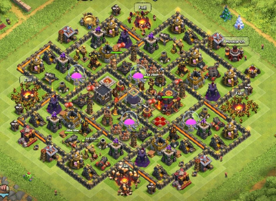 coc th10 farming layout