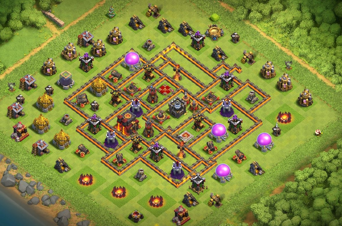 coc th10 trophy base download