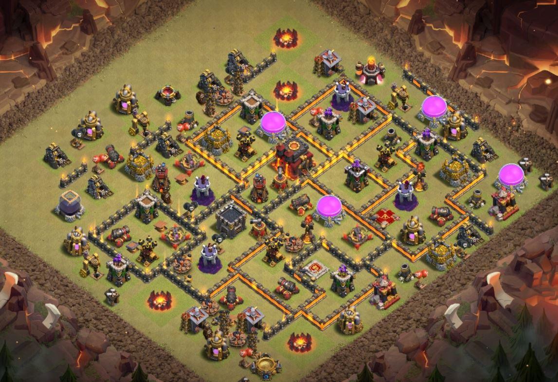 coc th10 war base