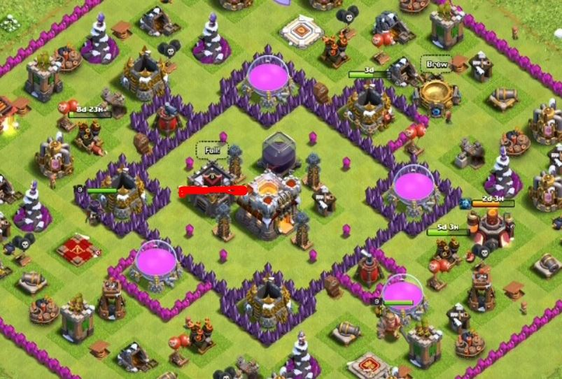 clash of clans th11 rush base