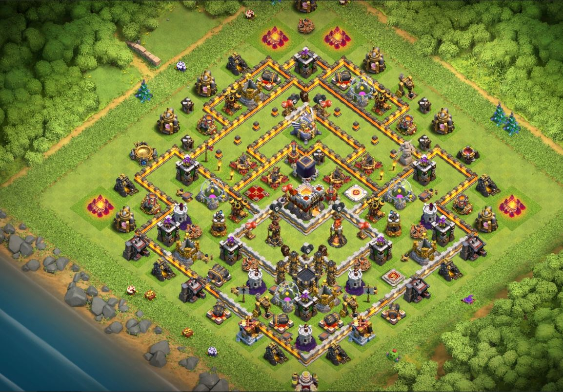 clash of clans th11 trophy base