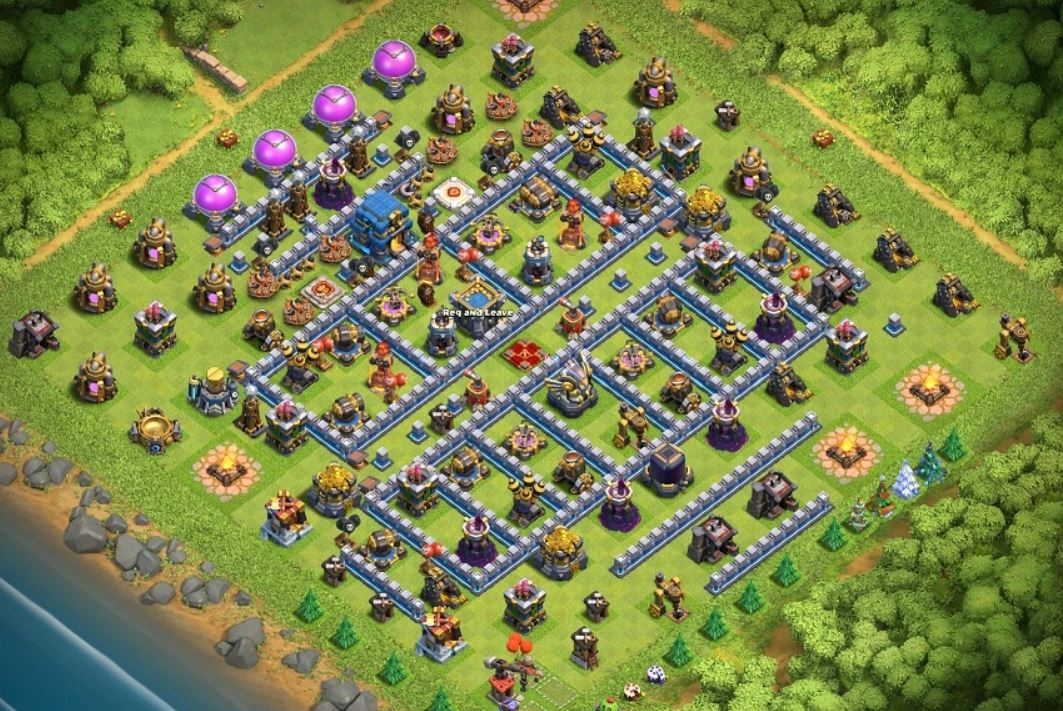 coc th12 trophy base