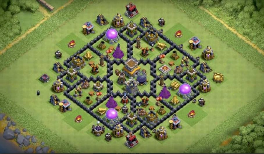 coc th8 farming layout