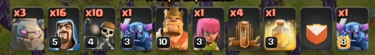 coc th8 gowipe
