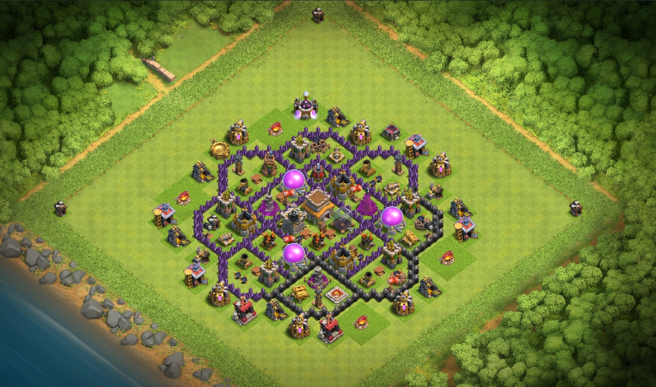 coc th8 trophy base