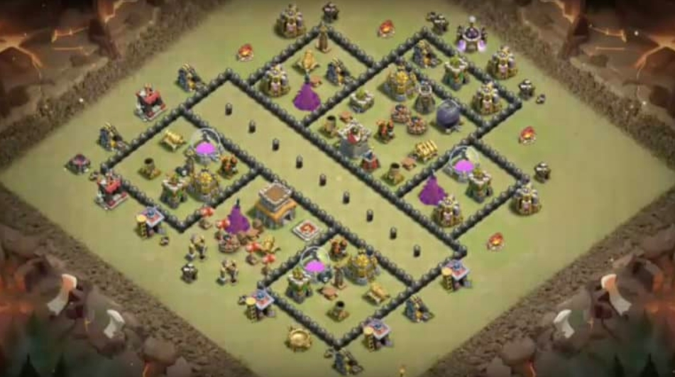 coc th8 war base