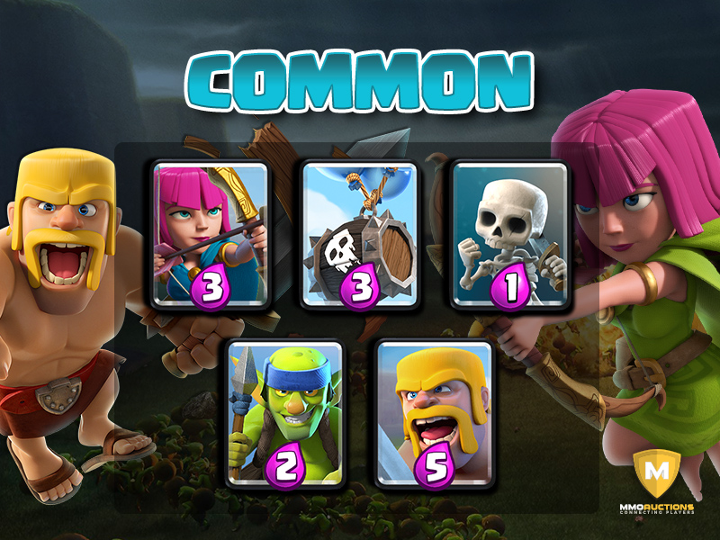 clash royale common cards