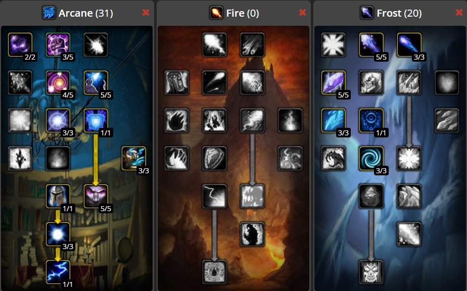 Frost Mage Arcane Power DPS Build