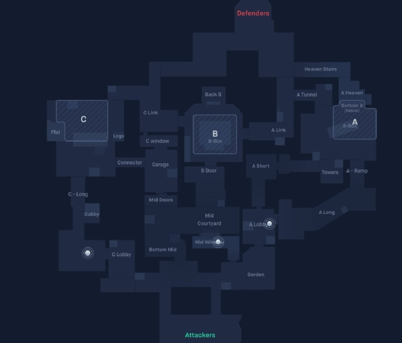 Valorant Haven map guide. Callouts to use.