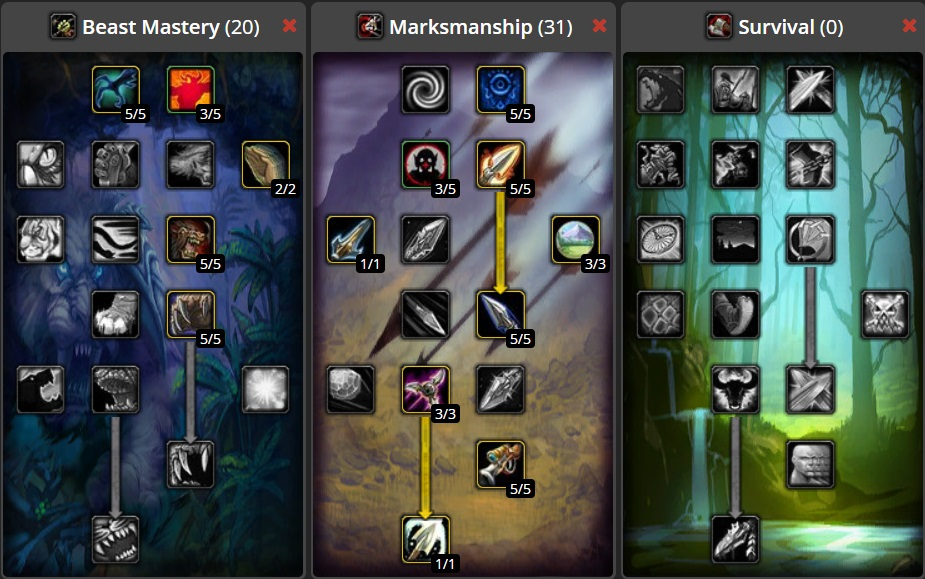 Classic WoW Hunter Raiding DPS Build
