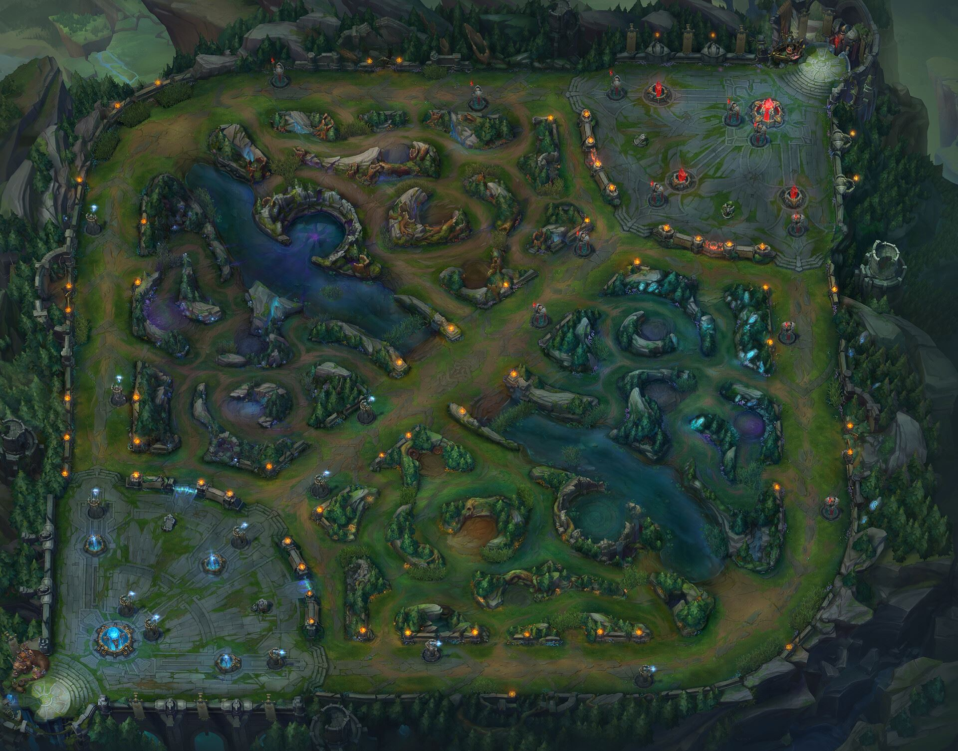 League of Legends Summoner's Rift Map