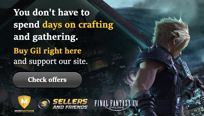 Final Fantasy XIV Gil offers in SnF store