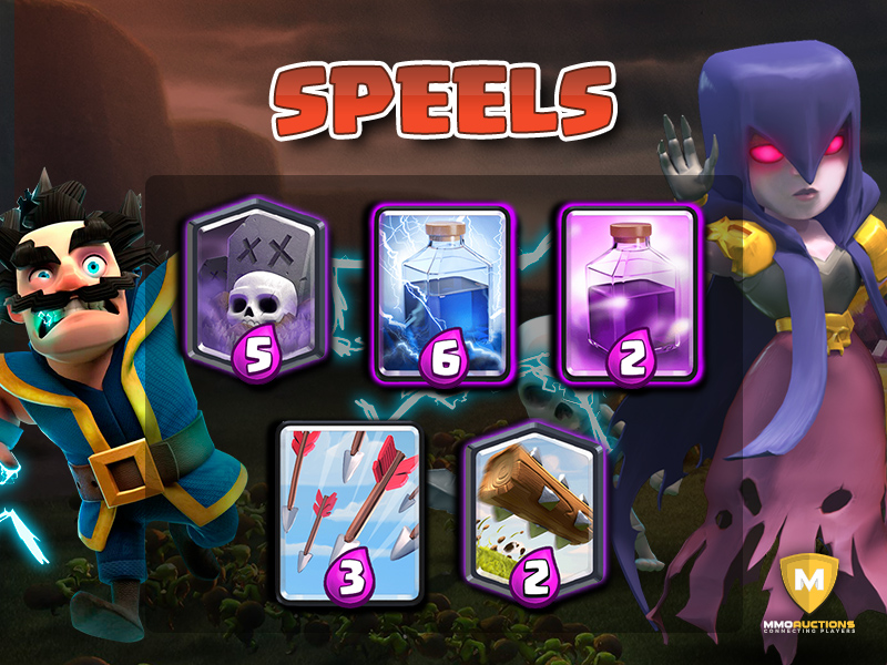 clash royale spell cards