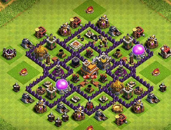 clash of clans th7 trophy base