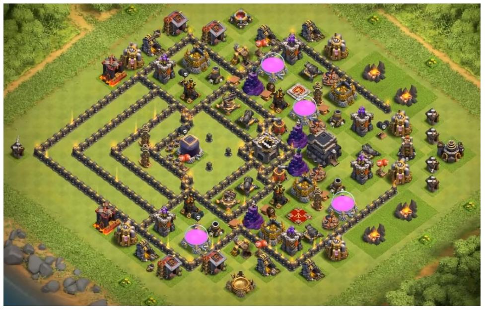 coc th9 far kelixir farming base