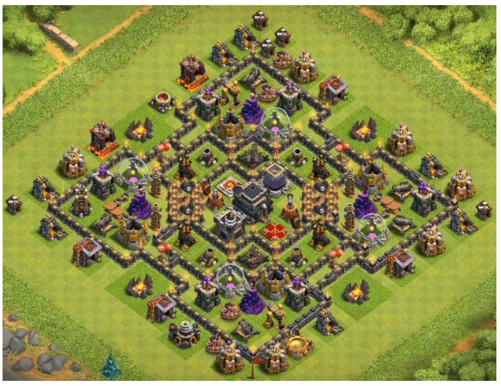 coc th9 farming base