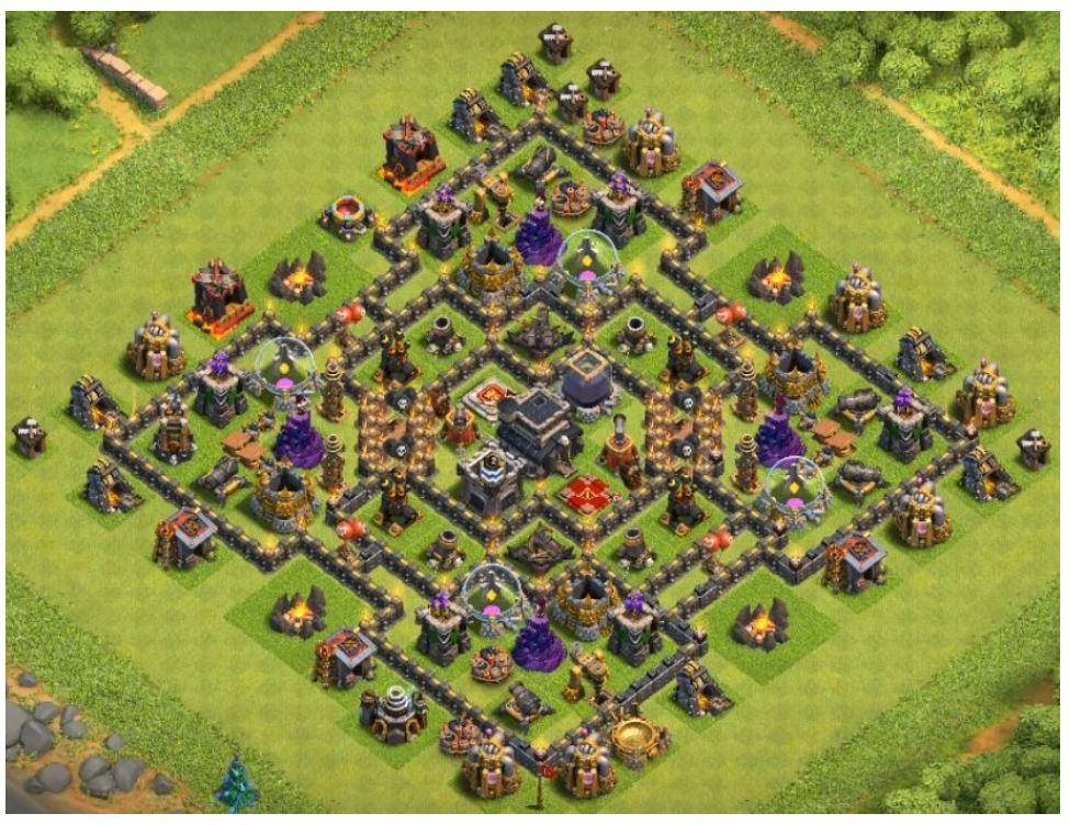 CoC th9 farming layout