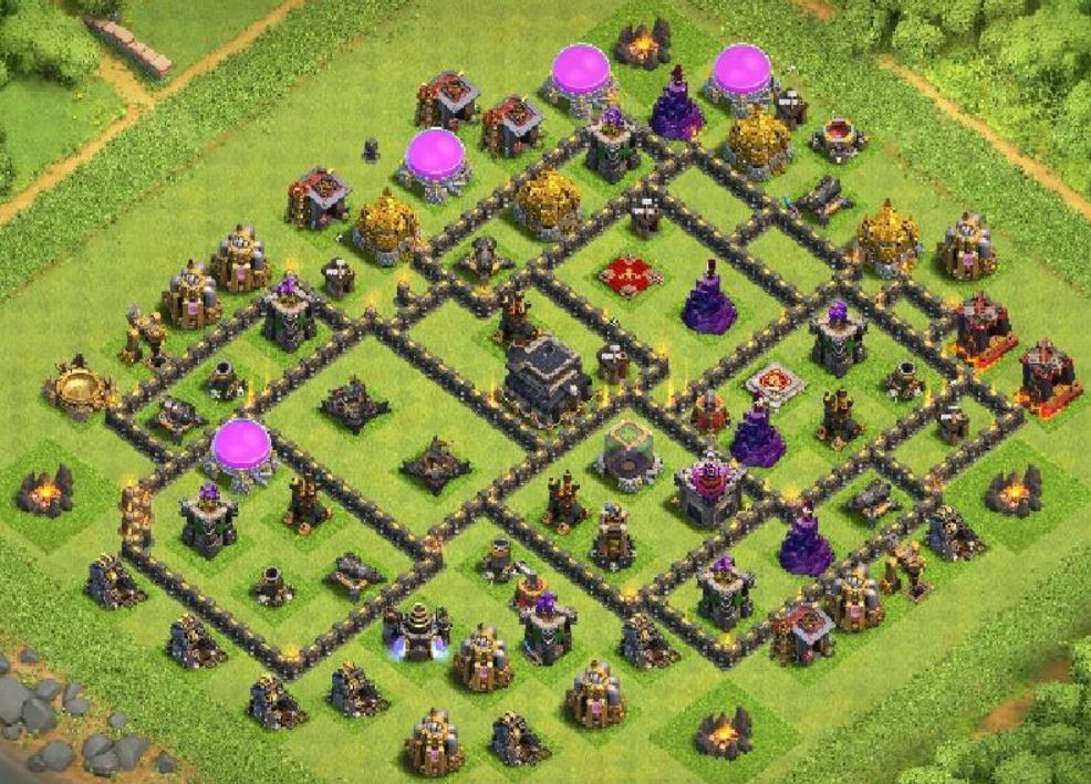 CoC th9 trophy layout