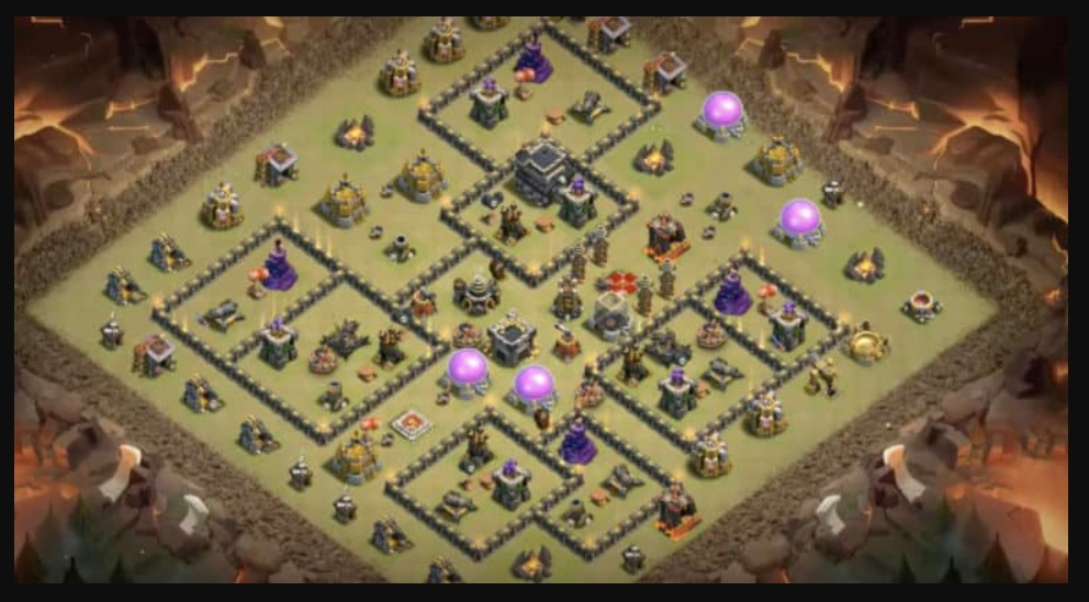 coc th9 war base