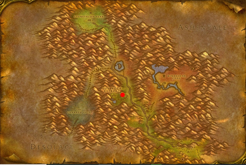 Hgarth in Stonetalon mountains map