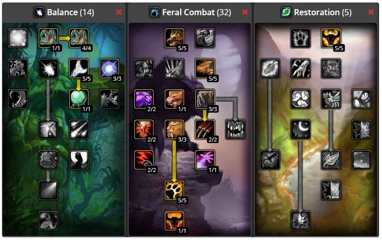 wow classic druid leveling build