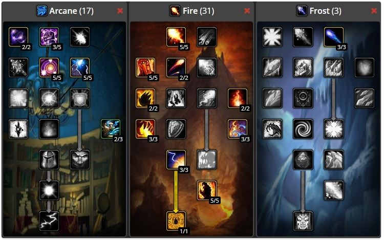 wow classic mage leveling build