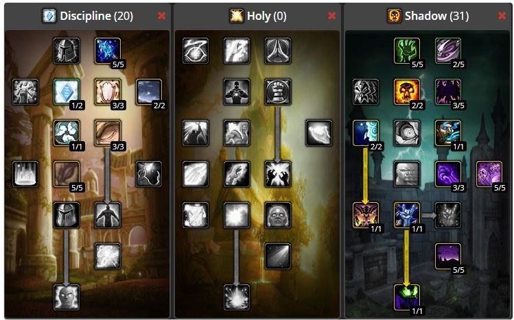 wow classic priest leveling build