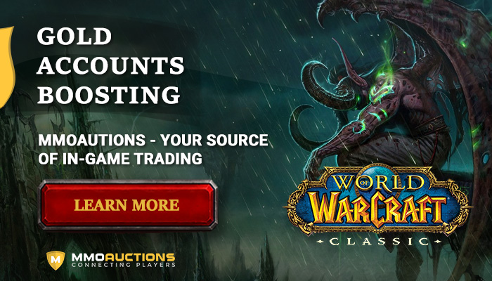 MMOAuctions is the best marketplace with WoW Classic