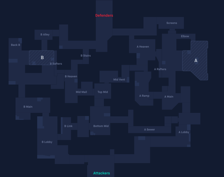 This is the Valorant Split map layout with callouts