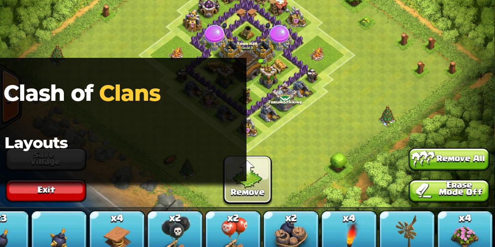 clash of clans layouts