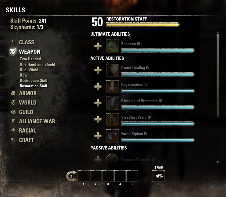 eso account 980 CP all DLC + SUMMERSET 250 skill points