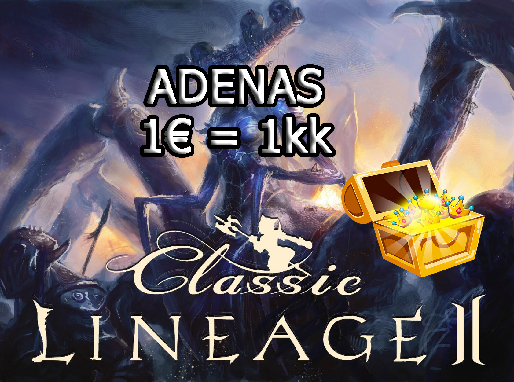 Lineage 2 Classic - Skelth Adenas 0.7€ =1kk  , Big Stock , cheap and fast