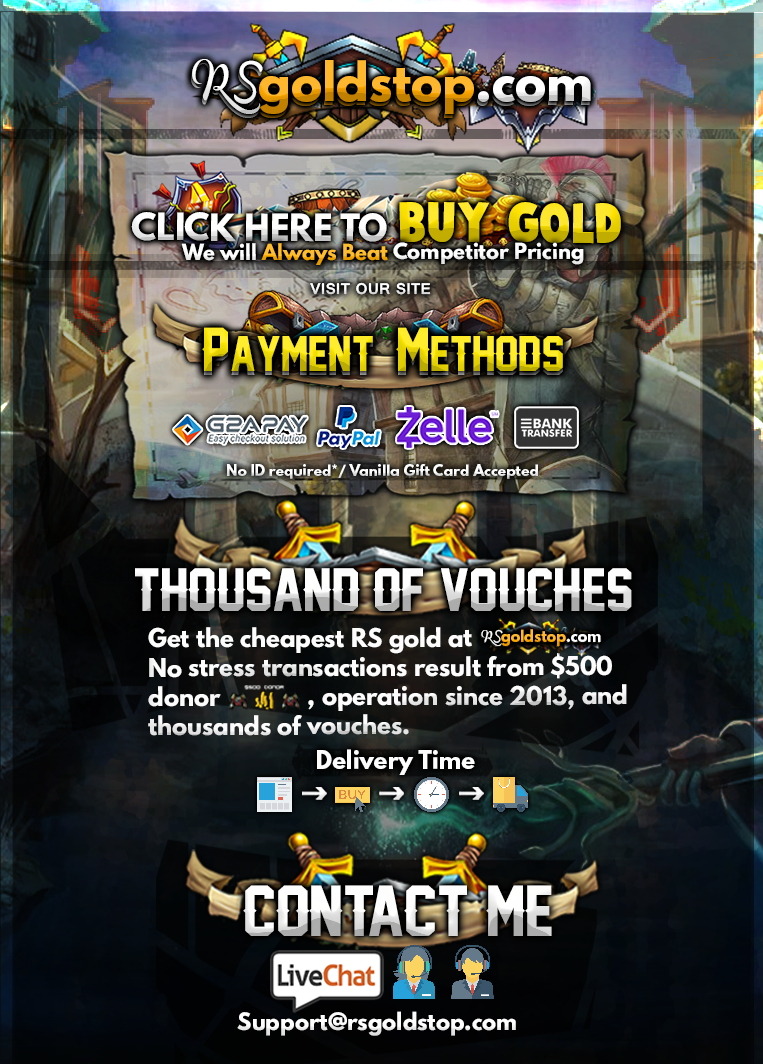 [Trusted on Sythe] RSGoldstop.com - Buy Runescape Gold - Click Here - Best Rate - Cheap OSRS Gold