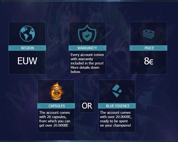 (EUW) Level 30 Smurf | 26 Capsules / 20.000+ BE | Unverified | Unranked