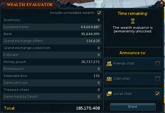 Completely Maxed Runescape 3