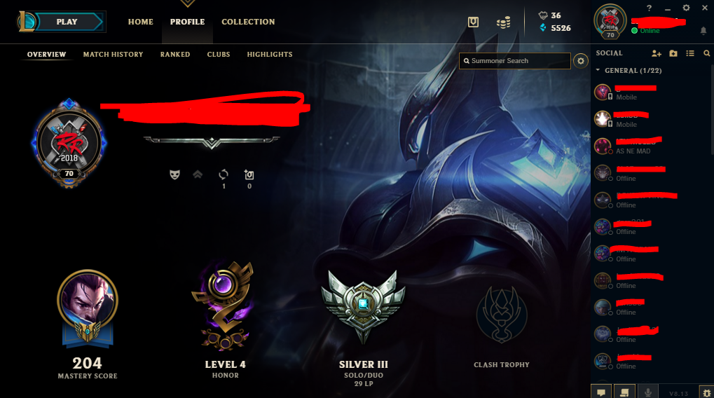 Selling LOL account EUNE  70lvl  11Skins  2Legendaries  Silver III