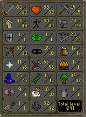 RS7 PURE- 99STRENGTH/75MAGIC- 691 (TOTAL LEVEL) , 41 (QUEST POINT), 79.81 (COMBAT LEVEL)