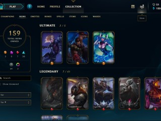 Gold 1 EUNE ALL CHAMPIONS 159 SKINS CHEAPPP