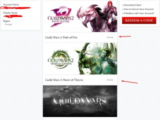 gw2 europe account all expansions with extras