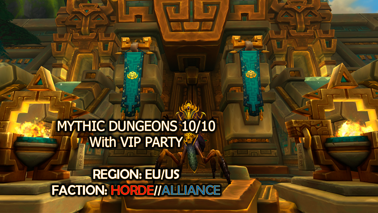 BFA Mythic Dungeon 10/10 with VIP Party