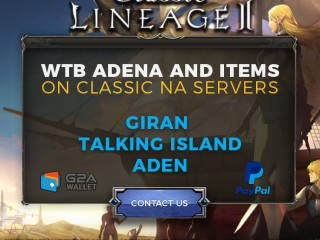 WTB Adena on Classic Lineage 2 Servers! TI / Aden / Giran - www.sellersandfriends.com