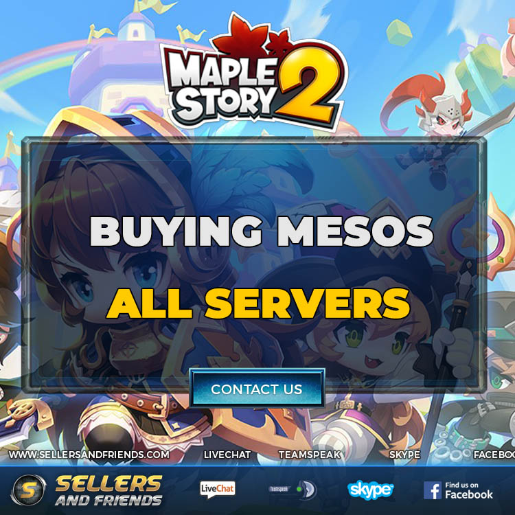 MAPLESTORY 2 MESOS - HANDMADE GOLD - INSTANT DELIVERY - TRUSTED - SECURE - SELLERSANDFRIENDS.COM