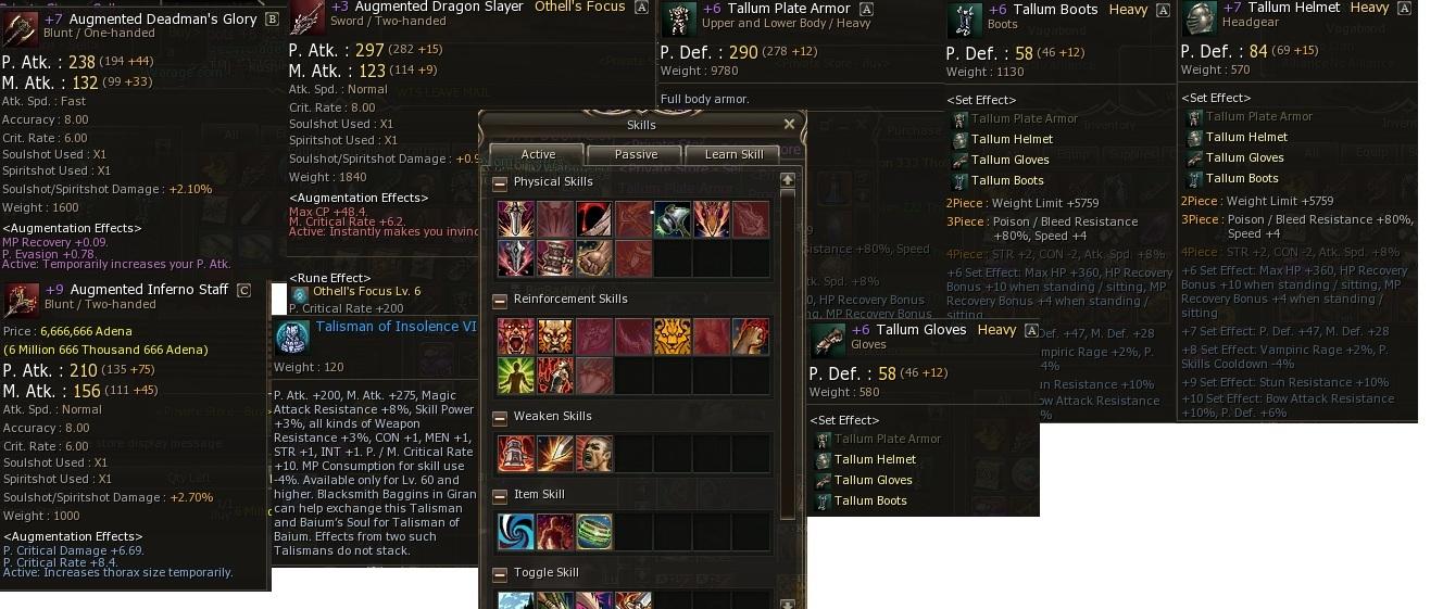 L2WarAge classic x15, items and top titan account.