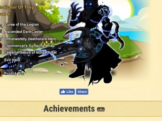 AQW Level 60 Account 7 Years Old, has Rare Items such as VOT Class and Oblivion Blade of Nulgath