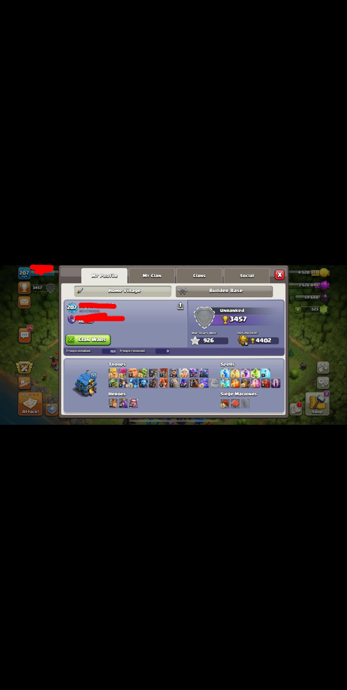 207 TH12 5 troops max all spells max semi max spells K29 Q38 W20