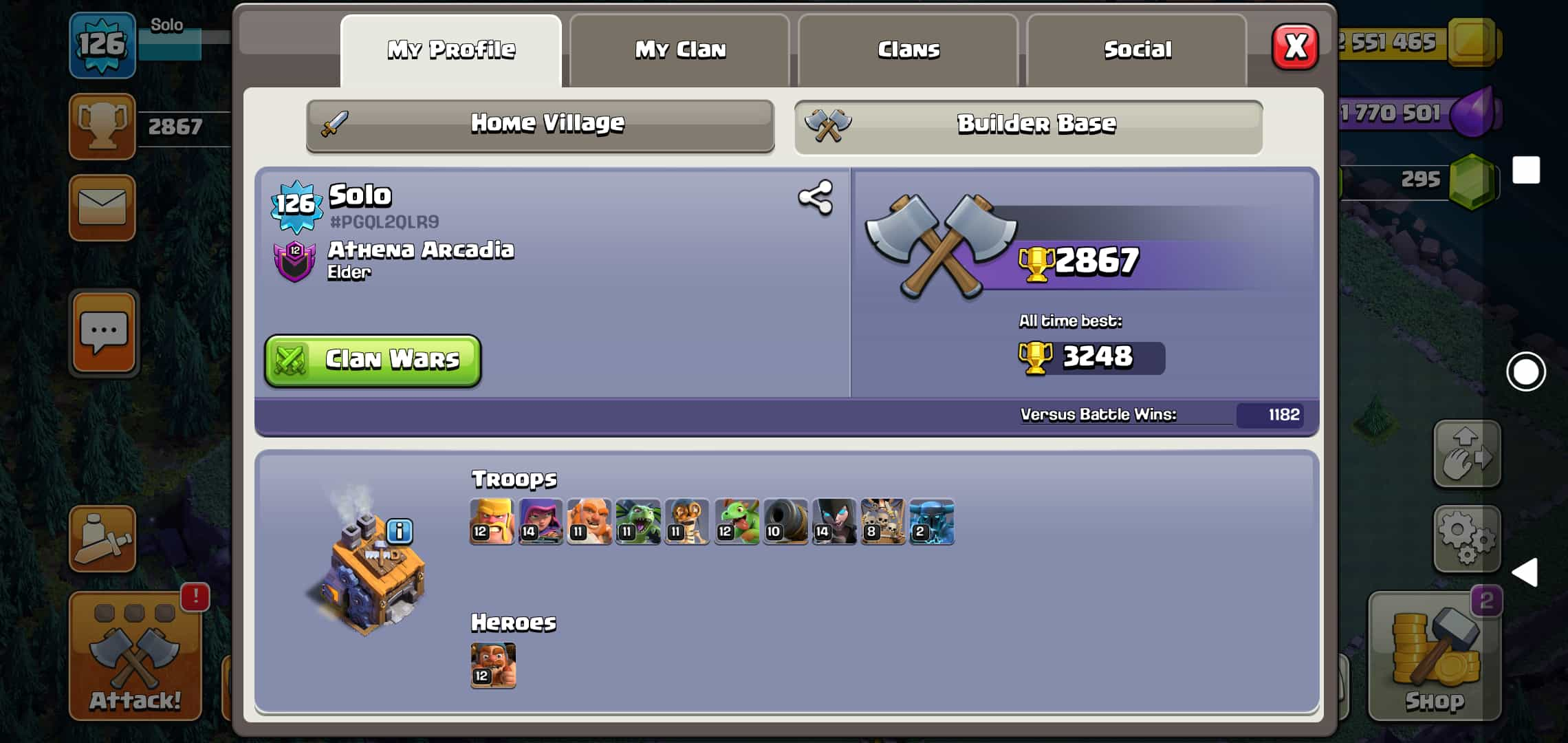 Clash of Clan TH 10 lv 126